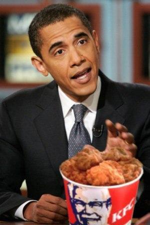 Obama mangia pollo fritto