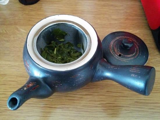 La mia kyusu, dedicata ai tè giapponesi.
